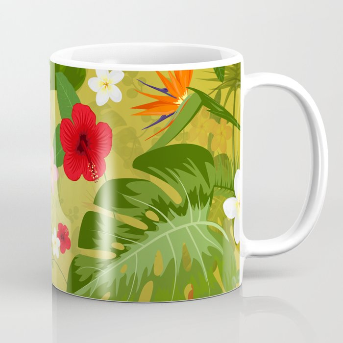 Tropical Flower Background 3 Coffee Mug