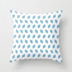 rhombus bomb in dusk blue Throw Pillow