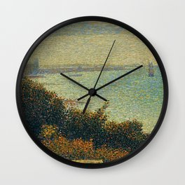 Hudson River, New York by Georges Seurat Wall Clock