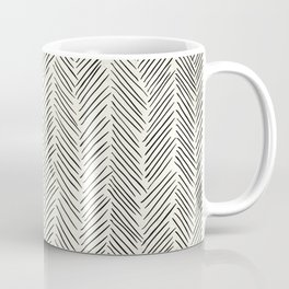 Herringbone Black on Cream Coffee Mug