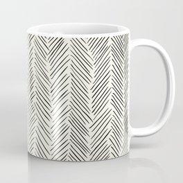 Herringbone Black on Cream Coffee Mug