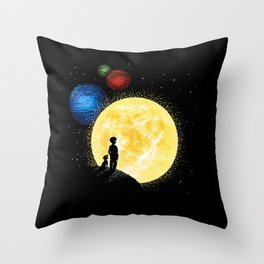 The morning of the new world Throw Pillow