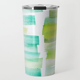 6 | 181101 Watercolour Palette Abstract Art | Lines | Stripes | Travel Mug