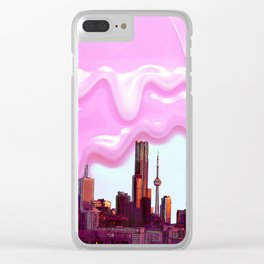 Summer night views Clear iPhone Case