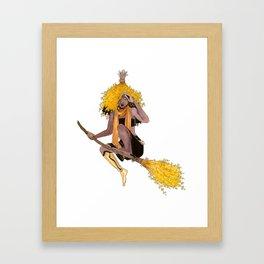 Forsythia Witch Framed Art Print