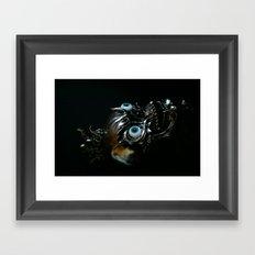 skull metal Framed Art Print