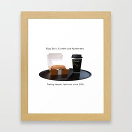 Bigly Don's Covfefe and Hamberders (no background) Framed Art Print