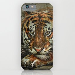 Tiger background iPhone Case