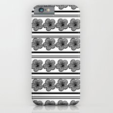 Flowers and stripes iPhone 6s Slim Case