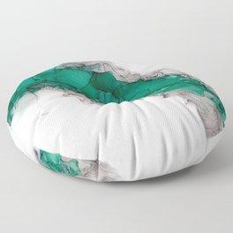 Study in Green Floor Pillow