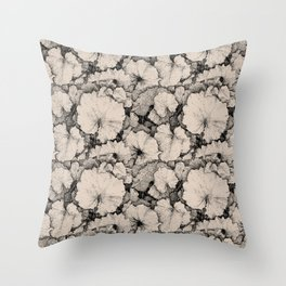 Tussilago Leaves Pattern Throw Pillow
