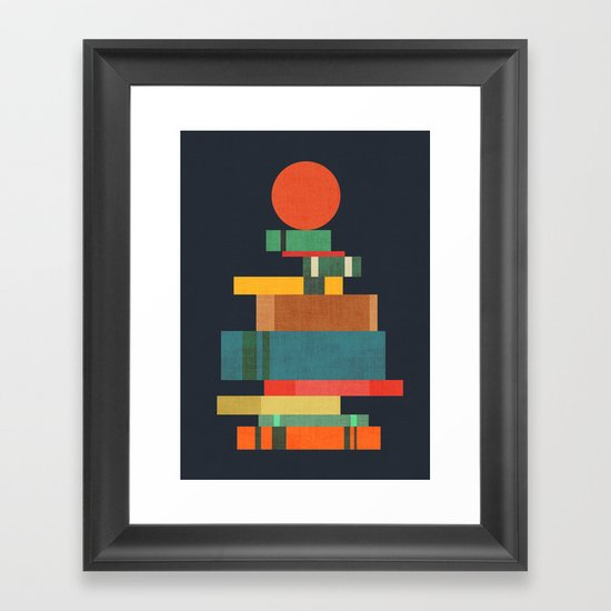 Book stack with a ball by budikwan