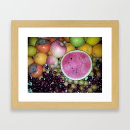 SIMPLY FRUITS Framed Art Print