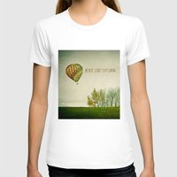 never stop exploring T-shirts featuring Never Stop Exploring ( Air Balloon) by Sandra Arduini