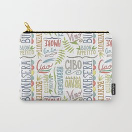 hand lettered italian word pattern Carry-All Pouch