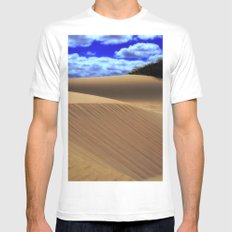 Desert Dunes MEDIUM Mens Fitted Tee White