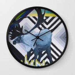 Geometric Caribou Wall Clock