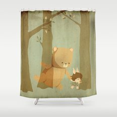 Oso Follow Me Shower Curtain