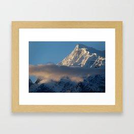 Cloud and Mountains way to Thorung Phedi Framed Art Print