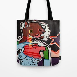 """A Portrait of a Topless Woman"" by Amos Duggan Tote Bag"