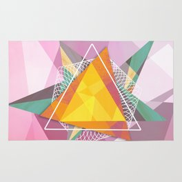 Tangled triangles Rug