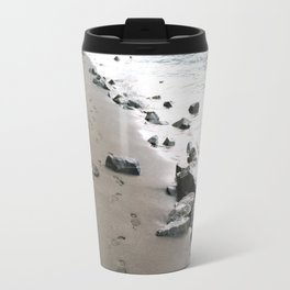 Footsteps by the River Travel Mug