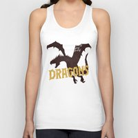 dragons Tank Tops featuring Dragons by WEAREYAWN