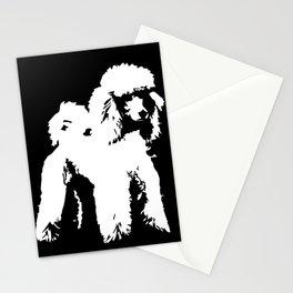 PET POODLE DOG Stationery Cards