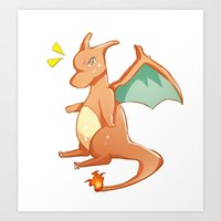 charizard Art Prints featuring Charizard by jimmy