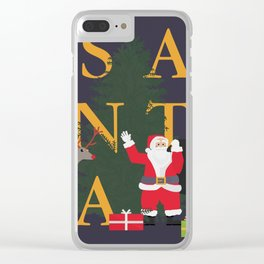 Santa Poster Clear iPhone Case