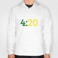 oakland Hoodies featuring Oakland 420 by Good Sense
