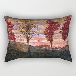 Quatre arbres (Group of Four Trees), Autumn Sunset by Egon Schiele Rectangular Pillow