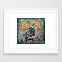 siren Framed Art Prints featuring Siren by Doom