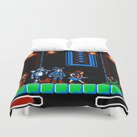 oz Duvet Covers featuring 8-Bit Oz by Meteo Designs