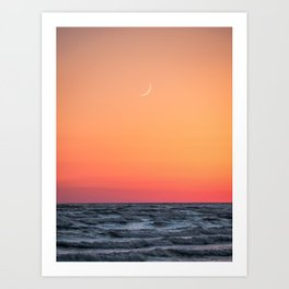 Sandbanks Sunset 1 Art Print