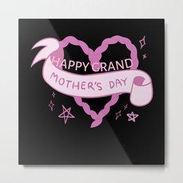 Happy Grand Mothers day gift grandmom New grandma Metal Print