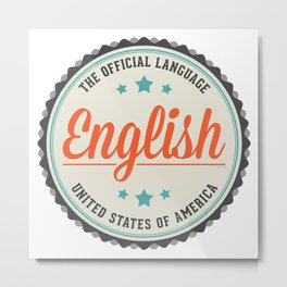 USA Official Language Metal Print