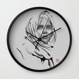 Jyn Erso: sketch-painting Wall Clock