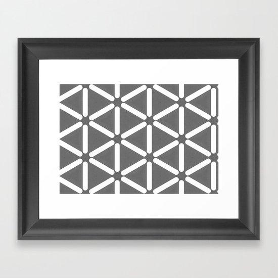 Wildeman Grey Pattern Framed Art Print