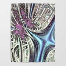 Cosmic Orchid - Fractal Art Poster