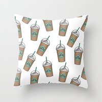 starbucks Throw Pillows featuring Starbucks by eARTh
