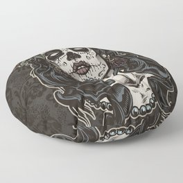 Day of The Dead Woman Floor Pillow