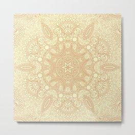 Gloria Tumbleweed Mandala With Corn Field Backdrop Metal Print