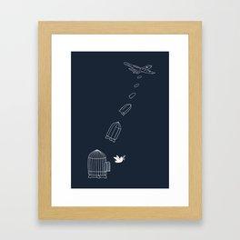Peace Bomber Framed Art Print