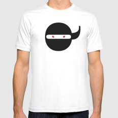 Bodoni Ninja MEDIUM Mens Fitted Tee White