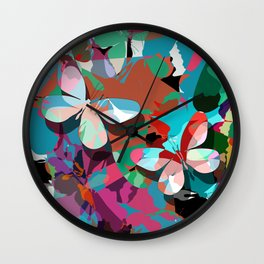 Butterfly abstract design Wall Clock