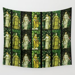 """William Morris """"Four seasons"""" (Dining Room at Cragside House, Northumberland, UK) Wall Tapestry"""