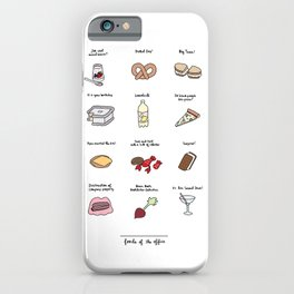 Foods of The Office iPhone Case