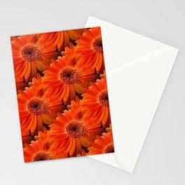 daisy pattern orange Stationery Cards