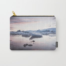 Sunset over Glacier Lagoon - Landscape and Nature Photography Carry-All Pouch